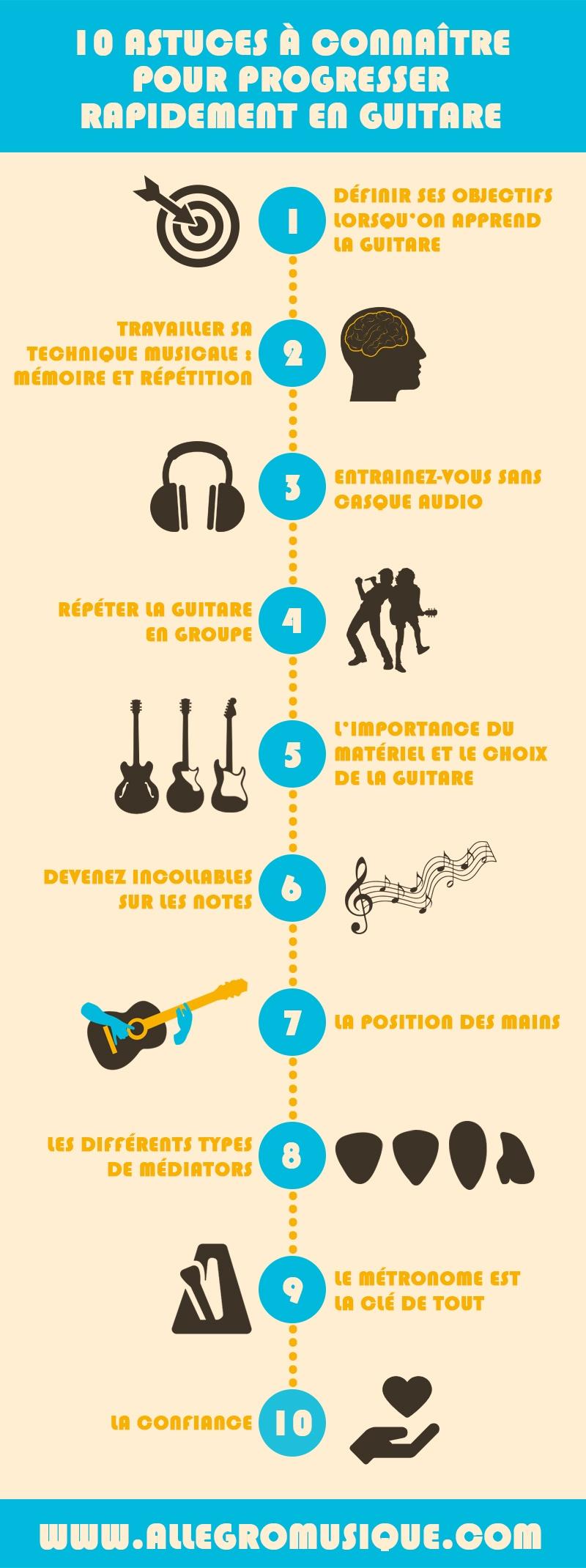 astuces pour mieux jouer a la guitare