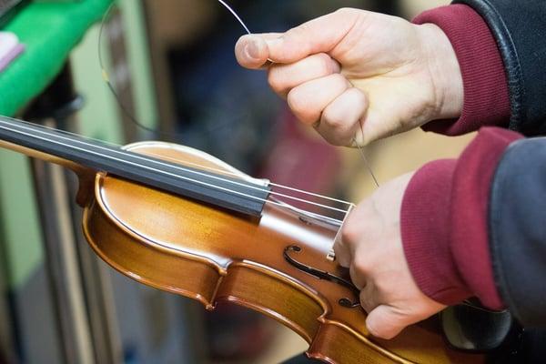 prendre soin corde violon