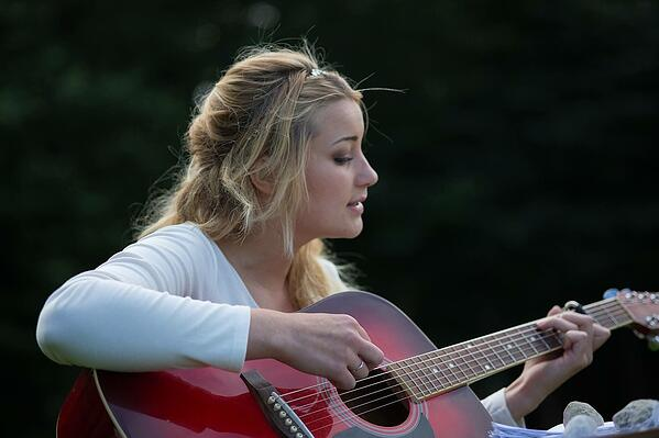Guitariste classique femme