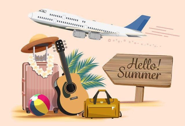 instrument de musique dans valise pour vacances