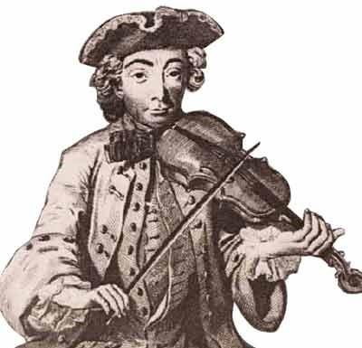 posture du violoniste pendant le mouvement baroque
