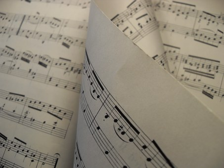 Les partitions au solfège - piano
