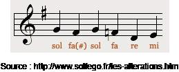 Notes de violon